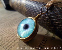 Load image into Gallery viewer, Spherical Numina Iris Pendant -- Winter Blue, Large | Hibernacula