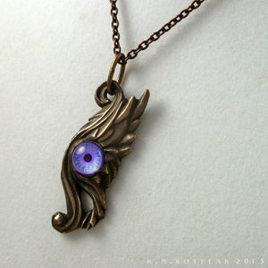 Seraph -- Wing Pendant in Bronze or Silver | Hibernacula