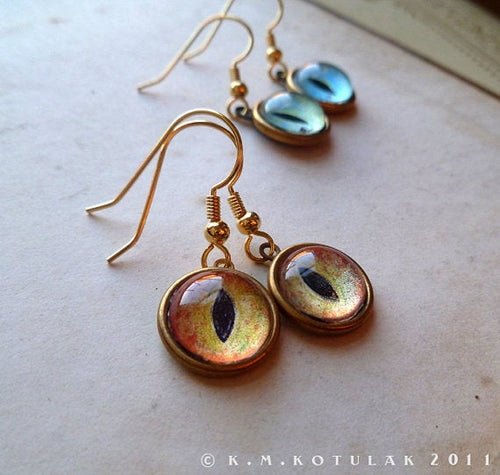 Numina Iris Earrings -- Animal Eye Variations | Hibernacula