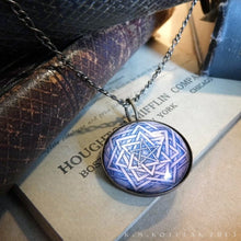 Load image into Gallery viewer, Unfolding Universe Mandala -- Brass Pendant | Hibernacula