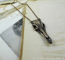 Load image into Gallery viewer, Deer Skull -- Necklace / Pendant In Bronze or Silver | Hibernacula