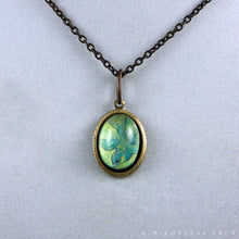 Load image into Gallery viewer, The Sky is Falling -- Brass Pendant with Original Artwork | Hibernacula