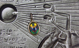 Key of Ra -- Brass Pendant with Original Artwork | Hibernacula