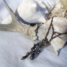 Load image into Gallery viewer, Prima Materia: Rain -- Alchemical Necklace in Bronze or Silver | Hibernacula