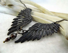 Load image into Gallery viewer, Thieving Magpie -- Necklace in Bronze or Silver | Hibernacula