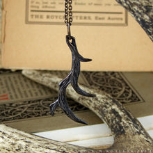 Load image into Gallery viewer, Antler -- Pendant in Bronze or Silver | Hibernacula