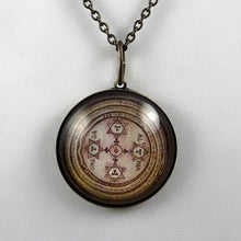 Load image into Gallery viewer, The Magic Circle of Solomon -- Brass Pendant | Hibernacula