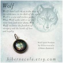 Load image into Gallery viewer, Wolf Spirit -- Brass Animal Totem Pendant | Hibernacula