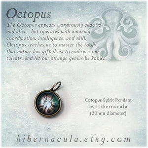 Octopus Spirit -- Brass Animal Totem Pendant | Hibernacula
