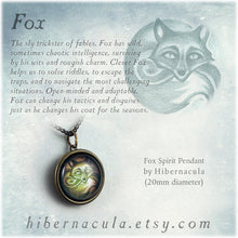 Load image into Gallery viewer, Fox Spirit -- Brass Animal Totem Pendant | Hibernacula
