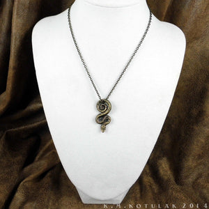 Serpent of Wisdom -- Pendant In Bronze or Silver | Hibernacula