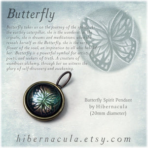 Butterfly Spirit -- Brass Animal Totem Pendant | Hibernacula