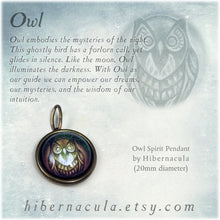Load image into Gallery viewer, Owl Spirit -- Brass Animal Totem Pendant | Hibernacula