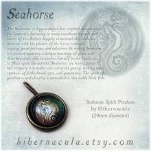 Load image into Gallery viewer, Seahorse Spirit -- Brass Animal Totem Pendant | Hibernacula