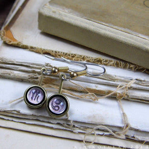 Zodiac Earrings -- Bound in Brass | Hibernacula