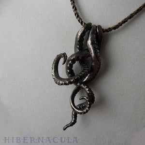 Tentacle Trinity -- Necklace in Bronze or Silver | Hibernacula