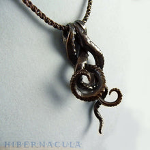 Load image into Gallery viewer, Tentacle Trinity -- Necklace in Bronze or Silver | Hibernacula