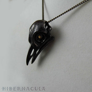 Quoth the Raven -- Bronze Pendant | Hibernacula