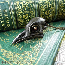 Load image into Gallery viewer, Quoth the Raven -- Bronze Pendant | Hibernacula