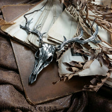 Load image into Gallery viewer, The Wild Hunt -- Stag Antler Necklace in Bronze | Hibernacula