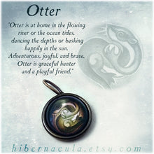 Load image into Gallery viewer, Otter Spirit -- Brass Animal Totem Pendant | Hibernacula