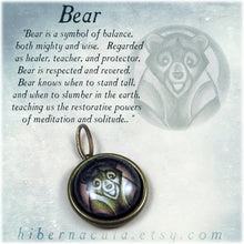 Load image into Gallery viewer, Bear Spirit -- Brass Animal Totem Pendant | Hibernacula