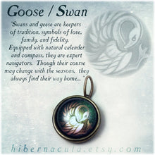 Load image into Gallery viewer, Swan / Goose Spirit -- Brass Animal Totem Pendant | Hibernacula