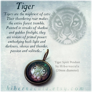 Tiger Spirit -- Brass Animal Totem Pendant | Hibernacula