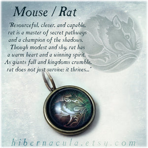 Mouse / Rat Spirit -- Brass Animal Totem Pendant | Hibernacula