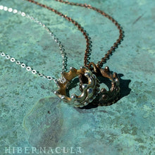 Load image into Gallery viewer, Little Crown -- Faerie Pendant in Bronze or Silver | Hibernacula