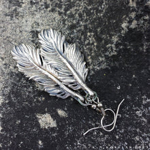 Load image into Gallery viewer, Owl Feather -- Earrings in Bronze or Silver | Hibernacula
