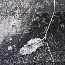 Load image into Gallery viewer, Owl Feather -- Pendant in Bronze or Silver | Hibernacula