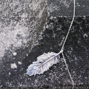 Owl Feather -- Pendant in Bronze or Silver | Hibernacula