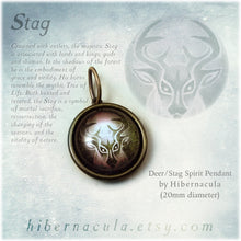 Load image into Gallery viewer, Deer / Stag Spirit -- Brass Animal Totem Pendant | Hibernacula