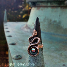 Load image into Gallery viewer, Sacred Serpent -- Ring In Bronze or Silver | Hibernacula