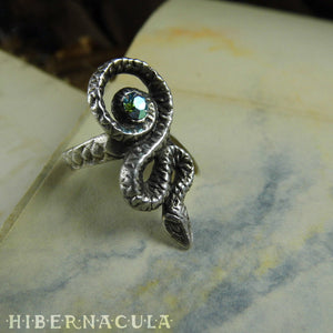 Sacred Serpent -- Ring In Bronze or Silver | Hibernacula