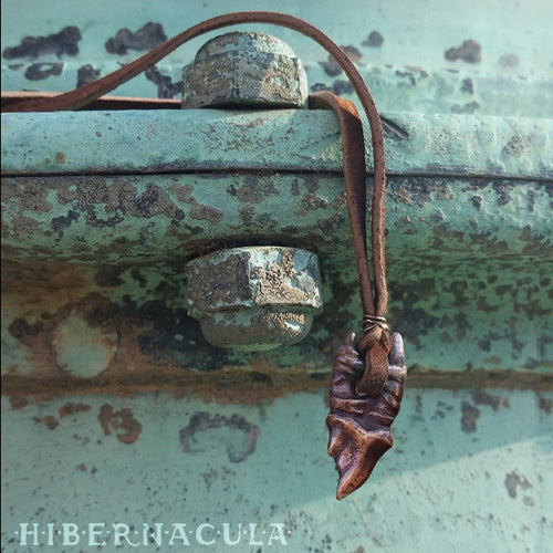 Wolf Fang Talisman -- Tooth Pendant in Bronze or Silver | Hibernacula