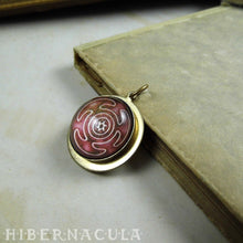 Load image into Gallery viewer, Hecate's wheel, Strophalos -- Brass Pendant | Hibernacula