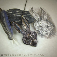 Load image into Gallery viewer, March Hare -- Necklace in Bronze or Silver | Hibernacula