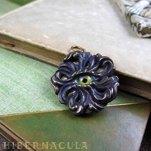 God's Eye -- Iris Pendant in Bronze or Silver | Hibernacula