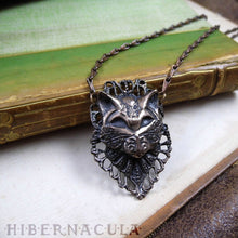 Load image into Gallery viewer, Bastet -- Regal Cat Necklace in Bronze or Silver | Hibernacula