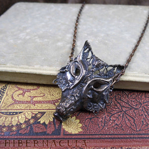 Howl -- Wolf / Fox / Coyote Mask, in Bronze or Silver | Hibernacula