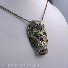 Load image into Gallery viewer, Memento  Mori -- Necklace in Bronze or Silver | Hibernacula