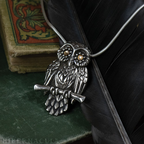 Owl of Minerva -- Pendant in Bronze or Silver | Hibernacula