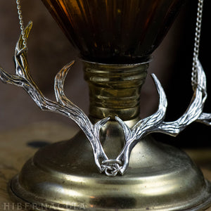 Prince of the Forest -- Antler Necklace in Bronze or Silver | Hibernacula
