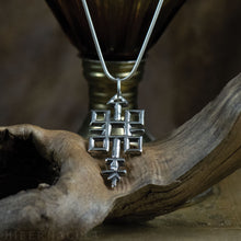 Load image into Gallery viewer, Quincunx -- Alchemical Pendant in Bronze or Silver | Hibernacula