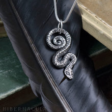 Load image into Gallery viewer, Serpent of Wisdom -- Pendant In Bronze or Silver | Hibernacula