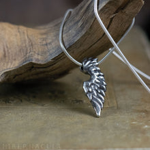 Load image into Gallery viewer, Little Angel Wing -- Pendant In Bronze or Silver | Hibernacula