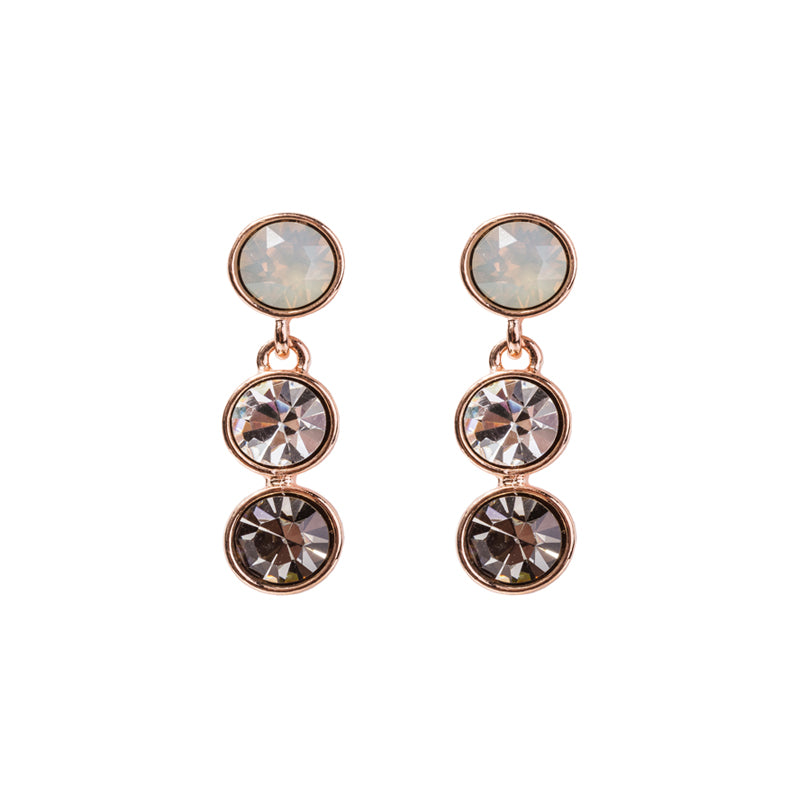 Ivory Trio Swarovski Crystal Earrings