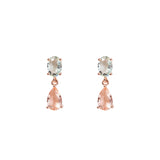 Blush Cut Glass Earrings